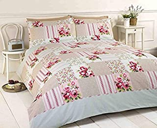 King size pink and beige duvet quilt cover bed set Shabby Chic Floral Vintage (B00GZ3ZM90) | Amazon price tracker / tracking, Amazon price history charts, Amazon price watches, Amazon price drop alerts