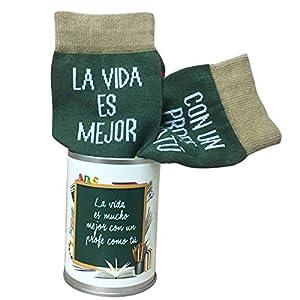 ARTEMODEL-la Vida... profe calcetín Bote, Color Verde (1)