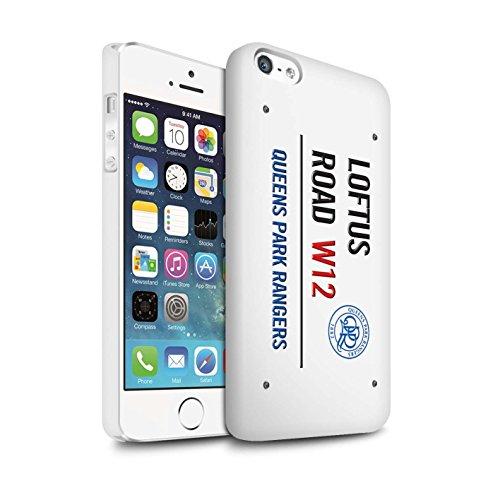 Offiziell Queens Park Rangers FC Hülle / Matte Snap-On Case für Apple iPhone SE / Weiß/Rosa Muster / QPR Loftus Road Zeichen Kollektion Weiß/Blau