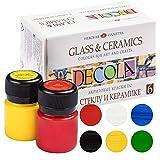Nevskaya Palitra | Set di colori per vetro e ceramica | 6 x 20 ml | lavabili in lavastoviglie | super coprenti