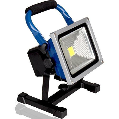 Kraftmax W10000 Profi Akku LED Baustrahler 20W / Flutlicht / kabellose Arbeitsleuchte / austauschbarer Akku