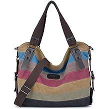 Borse Donna, Coofit Borse Tracolla Donna Hobo Design Borse a Spalla Multicolor Borse Tela(Upgrade borsa)