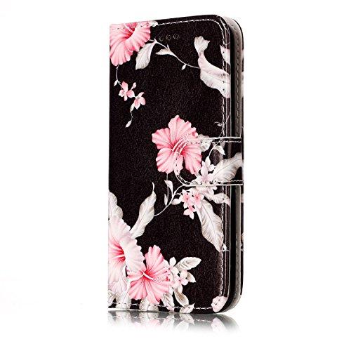 Für Samsung Galaxy S6 Horizontale Flip Case Cover Luxus Blume / Marmor Textur Premium PU Leder Brieftasche Fall mit Magnetverschluss & Halter & Card Cash Slots ( Color : E ) H