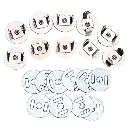 SODIAL(R) 10 Saetze magnetisch Tasche Verschluesse 14mm