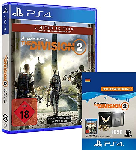 Tom Clancy's The Division 2 Limited Edition [PlayStation 4] + 1050-Premium-Credits-Paket [PS4 Download Code - deutsches Konto]