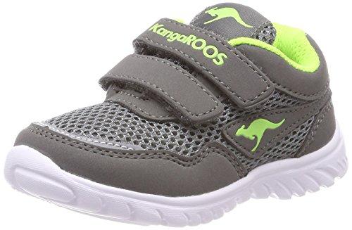 KangaROOS Unisex-Kinder Inlite 3003B Sneaker, Grau (Steel Grey/Lime), 26 EU