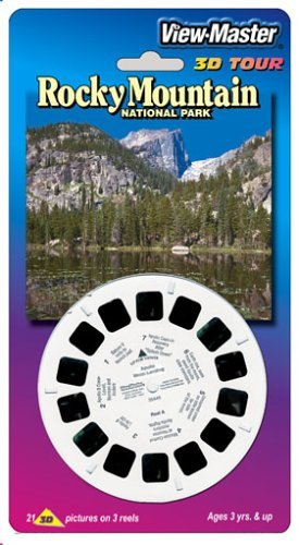 Made in USA Rocky Mountain National Park 3D View-Master 3 Reel Set