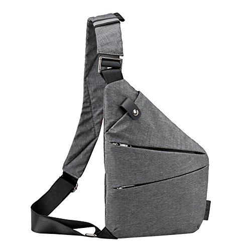 Beikoard Fashion Sling Bag Borse a Tracolla antifurto in Tela Casual(GrigioB)