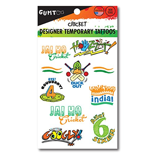 India cricket - Designer Temporary Tattoos  available at amazon for Rs.50