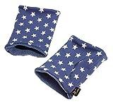 16512 | Kurz Stulpen, Pulswärmer Jeans STARS Label brit-M, Atelierarbeit aus Deutschland