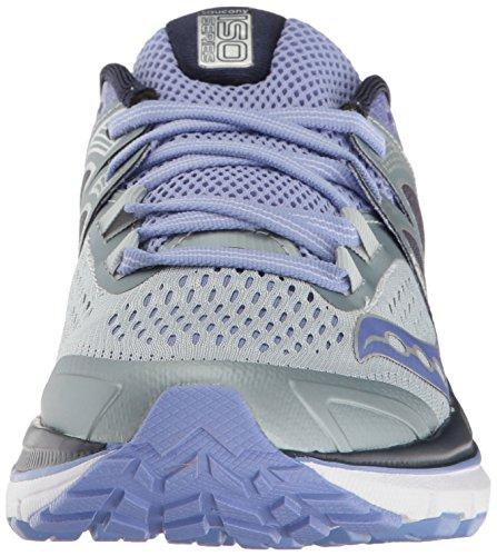 Saucony Triumph Iso 3, Zapatos Para Correr De Mujer Multicolor (gris / Morado)