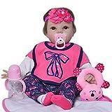 KEIUMI Reborn Baby Doll Muñecas renacentistas de 22 Pulgadas Que parecen Chicas Reales Bebés de Silicona Suave Muñecas recién Nacidas realistas Niños Playmate Cumpleaños