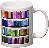 3dRose mug_112957_1 Colorful Bookshelf B...