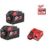 Pack NRJ Milwaukee 18V 9.0Ah 2 batteries 18V 9.0Ah 1 chargeur M12-18FC 4933451422