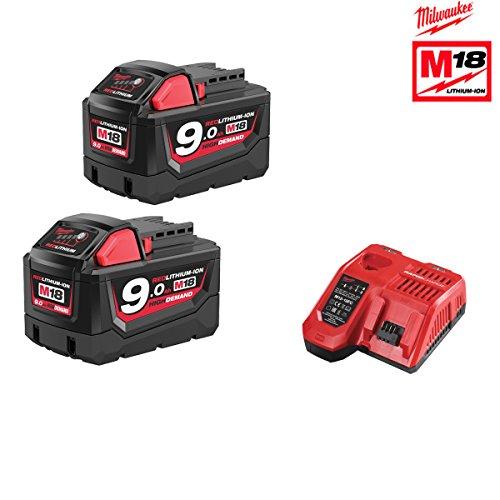 Preisvergleich Produktbild Pack Nrj (Frankreich) Milwaukee 18V 9.0AH 2Akkus 18V 9.0AH 1Ladegerät M12–18FC 4933451422
