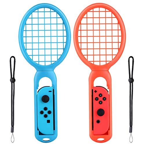 Raquetas de Tenis para Mario Tennis Aces Nintendo Switch -- Raqueta Nintendo Switch , Adaptadores para Joy-Con (2 Uds, 1 roja y 1 azul )
