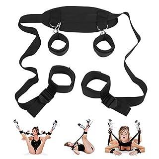 SM Bondage Set Hand und Fußfesseln, Fesselset BDSM Sexspielzeug für Einsteiger und Erfahrene, Adult Sexspielzeug Extrem Betten Fesseln für Paare
