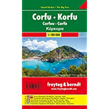 Korfu, Autokarte 1:100.000, Island Pocket + The Big Five, freytag & berndt Auto + Freizeitkarten