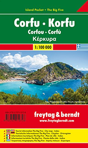 Preisvergleich Produktbild Korfu, Autokarte 1:100.000, Island Pocket + The Big Five, freytag & berndt Auto + Freizeitkarten