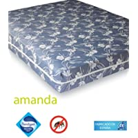 Belnou - Funda colchón jacquard amanda, cama 105x190, color azul
