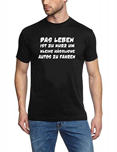 das-leben-ist-zu-kurz-um-kleine-hassliche-autos-zu-fahren-t-shirt-schwarz-weiss-grxl