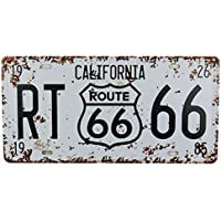 MS Route 66 Tin Poster Métal Home Bar Décor de plaque d'immatriculation en métal Blanc Sign Cj574-a