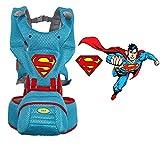 Tiners Babytrage multifunktionssitz Superman Stil Ergonomischer Babyrucksack 0-36 Monate Vier Jahreszeiten Baby Artefakt,B