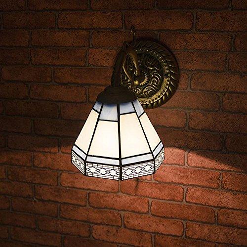Specchio da bagno europea lampade di parete anteriori Tiffany Bronzo