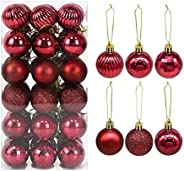 36Pcs Christmas Balls Ornament 4cm Hang Pendant Ball New Year Xmas Tree Decor