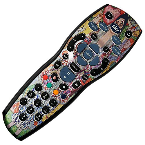 Klimt - Portrait Of Frederika Maria Beer, Autoadesivo Sticker Adesivi Pelle Cover Decal Set con Disegno Colorato per Sky + HD Remote Controller