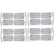 16 electrodos conexión de clavija 2mm (10x5cm). Almohadillas para electroestimuladores TENS EMS