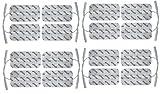 16 x TENS Elektroden/Pads EMS, 100x50mm, selbstklebend, für TENS EMS Reizstromgerät mit 2 mm-Stecker-Anschluss (Kabel-Anschluss)