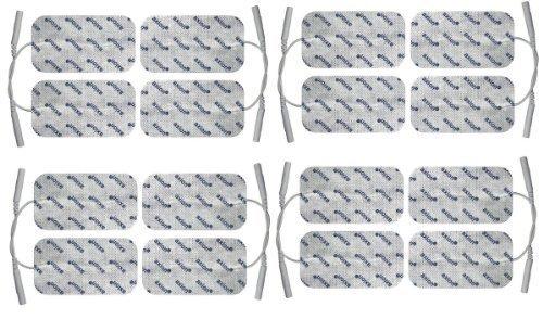 16 elettrodi pad 100x50mm autoadesivi - per elettrostimolatori EMS TENS con attacco...