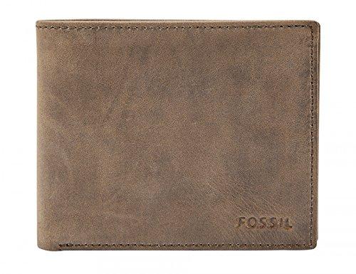 Fossil Geldbörse Hunter Large Bifold Braun Herren Portemonnaie Leder Börse Geldbeutel Brieftasche Herrengeldbörse (Bi-fold Herren-geldbörse)