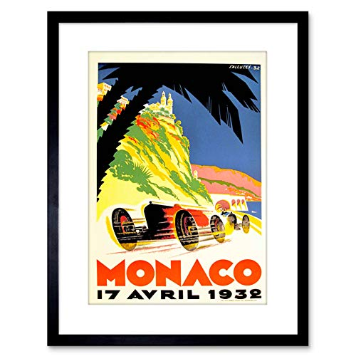 The Art Stop Vintage AD Transport MANACO Racing Grand Prix Framed Print F97X7505