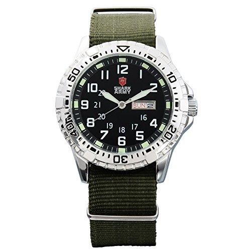 Shark army saw019 - orologio da polso da uomo, cinturino in nylon colore nero