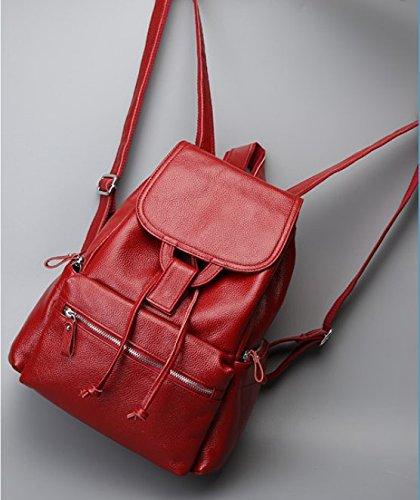 GOUQIN Zaino Outdoor Classico Moda Zaino Minimalista Ms. Nuovo Viaggio Di Piacere Dual Borse Tracolla, Blu Rosso