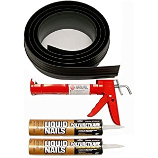 Auto Care Products Inc 53018 18-Feet Tsunami Seal Garage Door Threshold Seal Kit, Black by Auto Care Products Inc.
