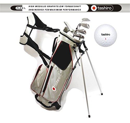 Damen GOLF-SET L Anfänger Halbsatz | Standbag + 5 GolfSchläger + 9 Bälle + 100 Tees | KomplettSet Rechtshänder 017
