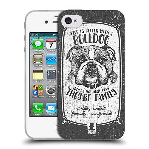 Head Case Designs Chihuahua Races De Chien Dessinées À La Main Étui Coque en Gel molle pour Apple iPhone 5 / 5s / SE Bouledogue