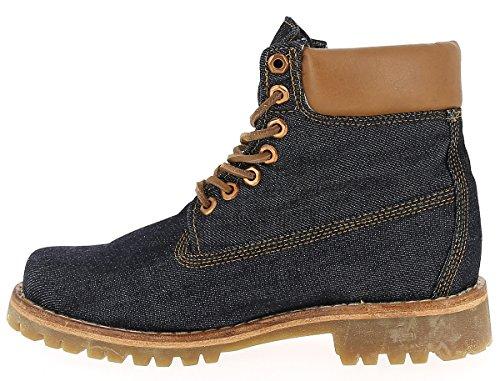 Timberland Herren Schuhe / Boots Heritage 6 Fabric Blau jWJXWfwKR