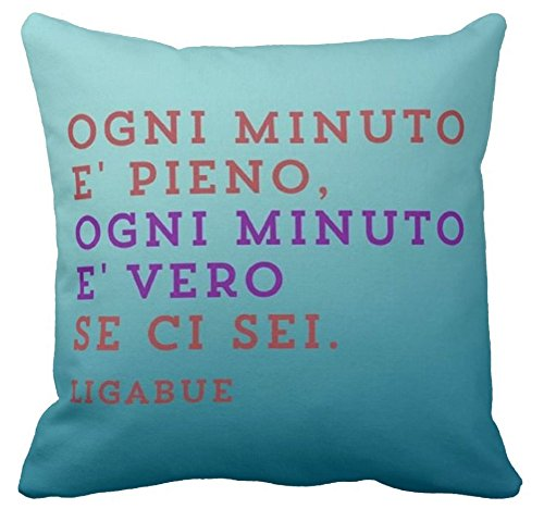 Cuscino Personalizzato 40x40 Frase Canzone Luciano Ligabue Ogni