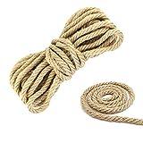 DECARETA Cuerda de Yute Gruesa y Resistente,Cuerda de...