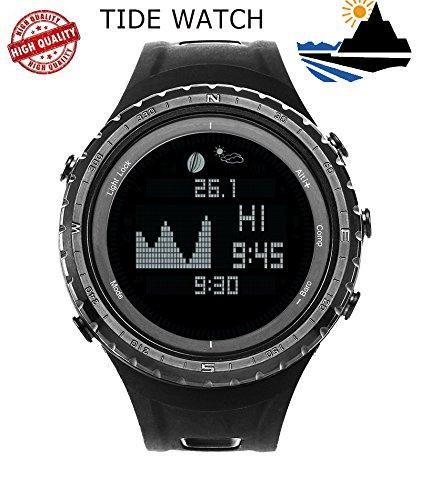 SUNROAD FR830 Reloj digital reloj de pesca Deportivo 5 ATM Cronómetro Multifuncional con Altímetro temperatura Cuenta regresiva