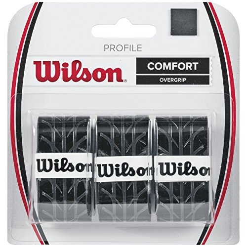 Wilson Overgrip Profile, schwarz,  3er Pack Test
