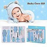 Babypflege Set,10-teiliges Baby Gesundheitsset mit Digital-Thermometer Nasensauger Pipette Feeder, Kit mit Nagel- und Haarpflegeset, Babypflegeartikels mit Fingerzahnbürste und Nasenpinzette