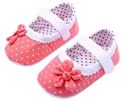 Ballet Arco Sorrir Algodão Walker De Velcro Estilo Girl Ykk Baby Deco Rosa Sapatos twpwzAqn