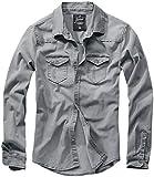 Brandit Denimshirt Riley - Grey - 3XL