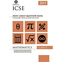 Most Likely Question Bank for Mathematics: ICSE Class 10 for 2019 Examination