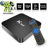 Android TV Box Android 8.1 TV Box Smart TV BOX Amlogic S905X2 Quad Core Bluetooth 4.1 Dual Band WIFI 2.4G/5G 1000M LAN Ethernet 4K 3D Full HD H.265 USB 3.0
